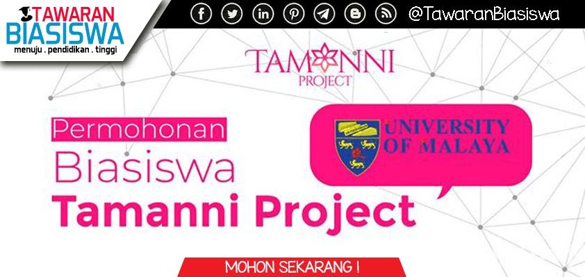 Permohonan Biasiswa Tamanni Project UM