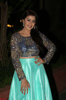 Nikki Galrani in Green Skirt  Top at Marakathamani music launch ~  Exclusive (11).JPG
