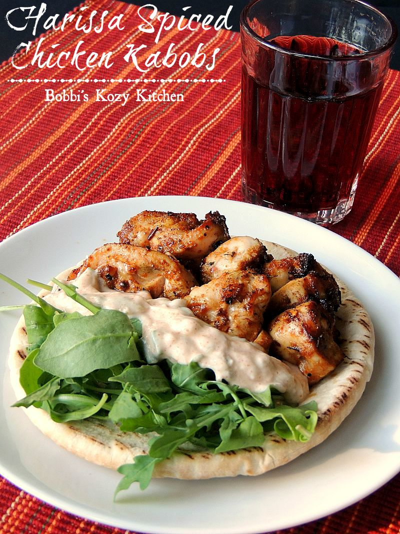 Harissa Spiced Chicken Kabobs from www.bobbiskozykitchen.