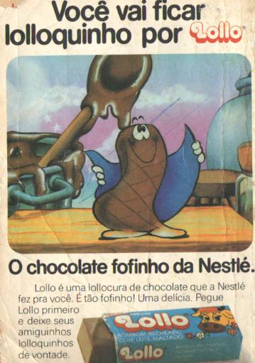 Propaganda antiga do chocolate Lollo veiculada em 1983