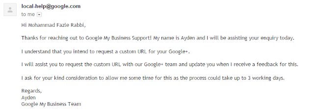 Google Plus email confirmation