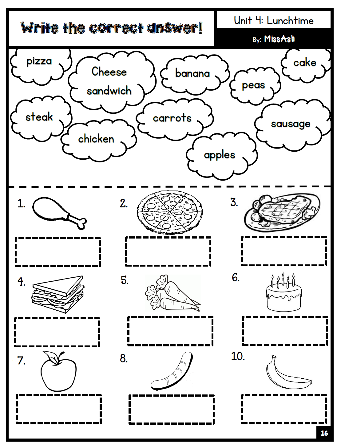 Ash The Teacher Year 1 Supplementary Worksheets Unit 0