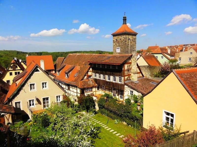 Rothenburg ob der Tauber vista da muralha