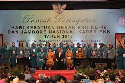 Yustin Ficardo: PKK Lampung Raih 3 Penghargaan di Jambore Nasional Kader PKK 2018
