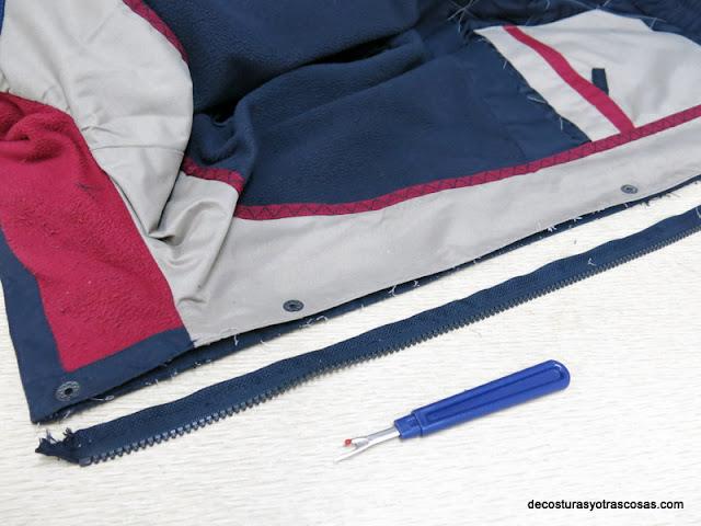 arreglar chaqueta con cremallera