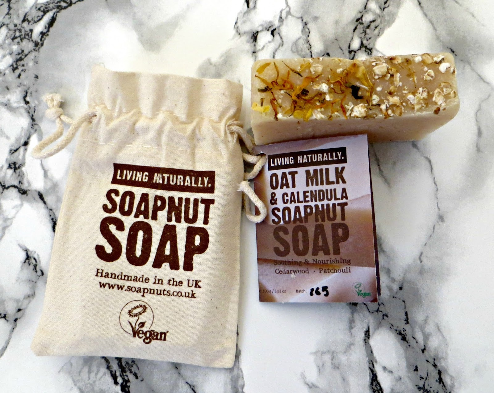 living naturally soapnuts soap oat milk and calendua review