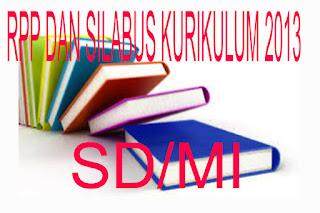 Unduh File RPP dan Silabus lengkap Kurikulum 2013 Kelas 1 jenjang SD/MI Semester I dan II.Rar