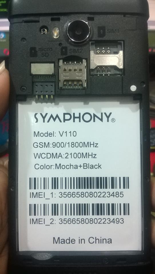 Symphony V110 DEAD BOOT REPEAR FIX Firmware V110_HW1_V11