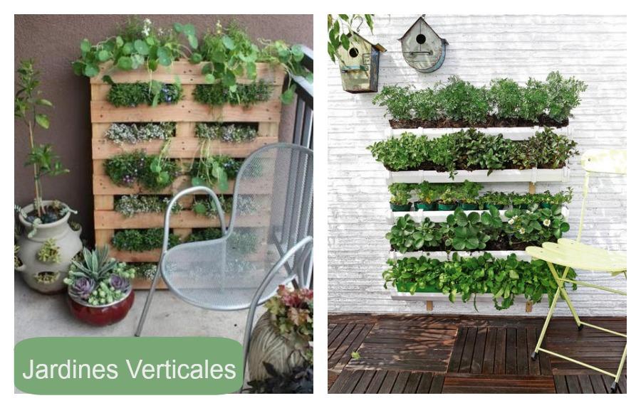 Jardines verticales balcones