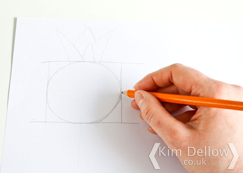 Drawing a Pineapple Template
