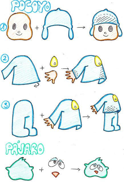 fbfaa7b2b01 Tutorial para hacer a Pocoyó y al pájaro del marco de fotos de Pocoyó
