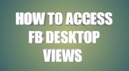 how to access facebook desktop site on mobile