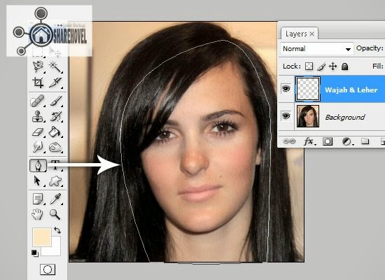 cara membuat pola vector wajah dan leher menggunakan pen tool - tutorial membuat vector di photoshop - membuat foto menjadi kartun dengan photoshop