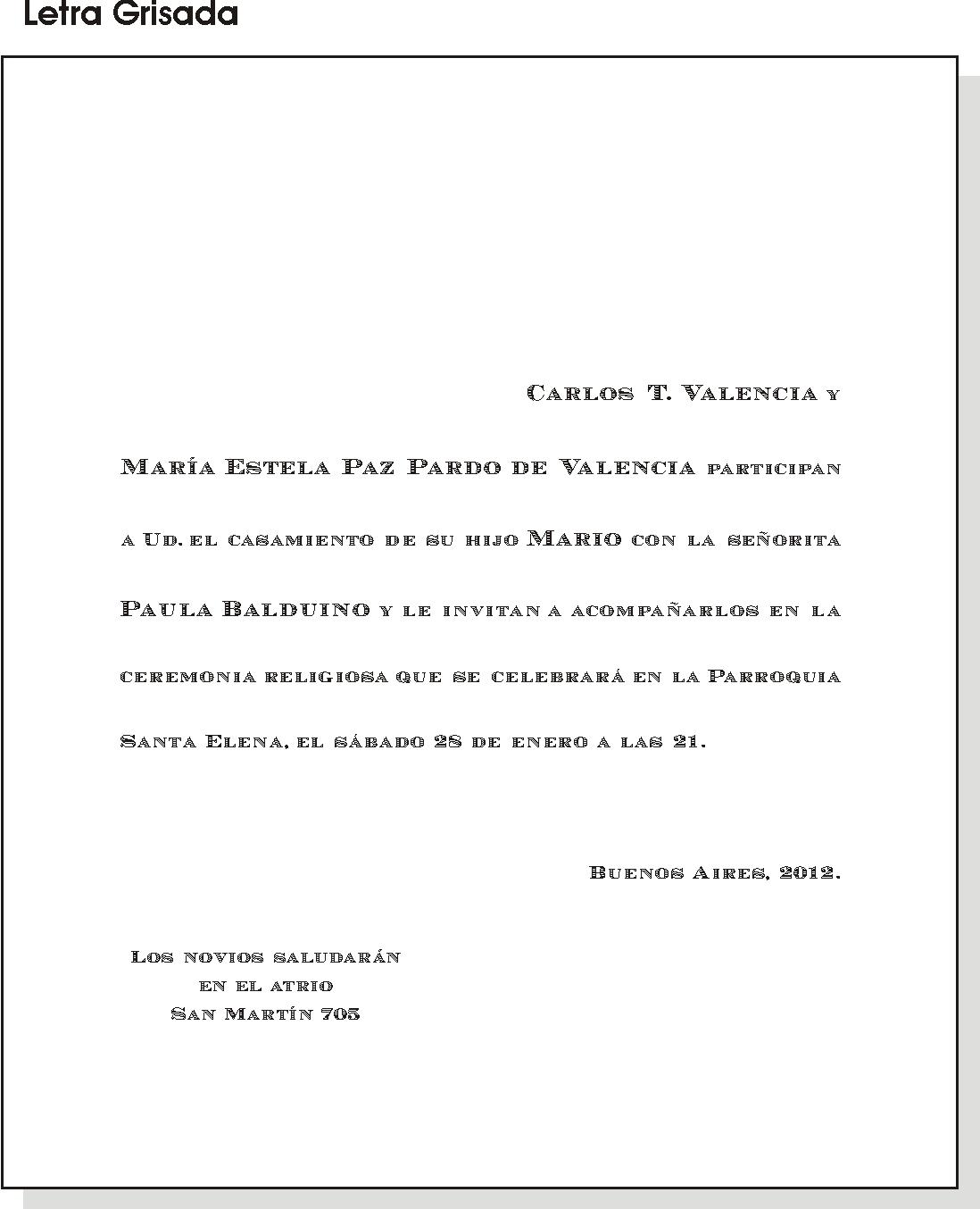 Miglen Y Alen Ejemplos De Textos Y Tamanos De