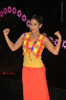 Telugu Actress Model Sri Reddy Latest Stills in Yellow Dress  0032.JPG