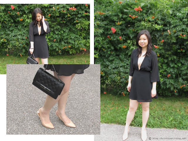 The August Fashion Lookbook featuring TOBI Take It Slow Skater Dress, Aldo Derogali Handbag Purse Clutch, BCBGeneration Odessa Slingback Pumps