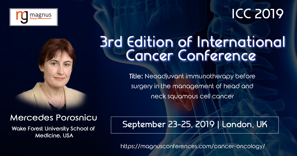 3rd Edition of International Cancer ConferenceICC 2019