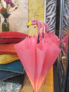 Flamingo Umbrellas.