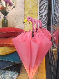Flamingo Umbrellas.