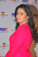 Sree Mukhi in Pink Kurti looks beautiful at Meet and Greet Session at Max Store (36).JPG