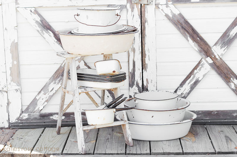 Farmhouse Enamelware for Christmas