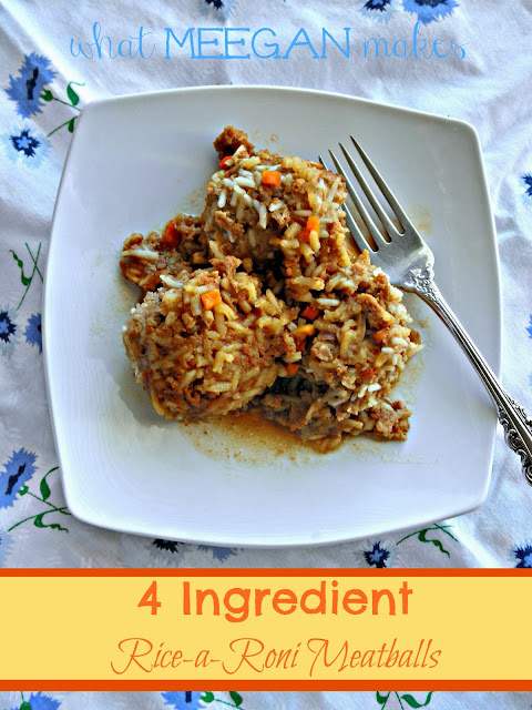 4 Ingredient Rice-a-Roni Meatballs