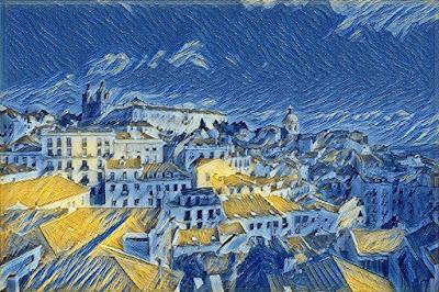 Lisboa - Miradouro das Portas do Sol_The starry nigth