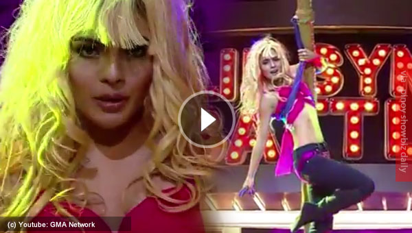 Lovi Poe performs Britney Spears in Lip Sync Battle PH and the stage was set on fire