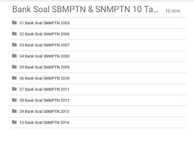 File Soal SBMPTN Lengkap Semua Tahun