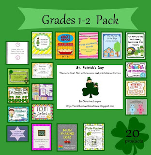 Are you feeling lucky giveaway grade 1-2 pack