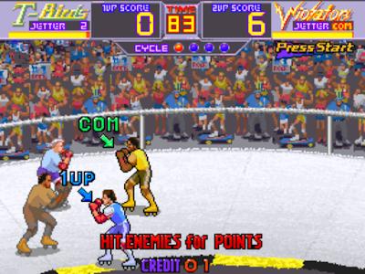 街機:暴力溜冰(Rollergames)+金手指,玩起來非常爽快的運動遊戲!
