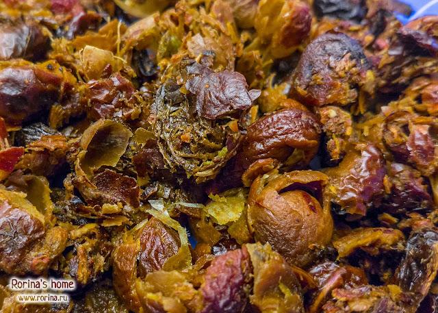 Размокшие мыльные орехи