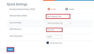 Cara Mudah Mengganti Nama dan Password Modem BOLT 4G LTE