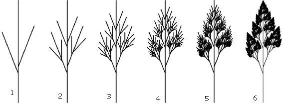 Cara menggambar pohon pinus