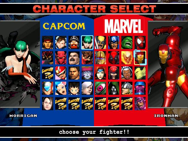 Char Mugen Marvel Vs Capcom Screenpack - dietstaff