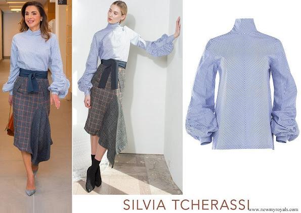 Queen Rania wears Silvia Tcherassi Sovicile Blouse