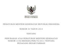 Permenkes No. 34 Tahun 2014 Tentang Pedagang Besar Farmasi
