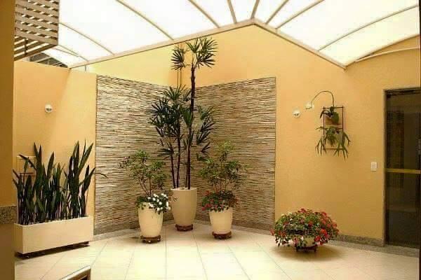 Construindo minha casa clean jardim simples e bonito for Decoracion jardines interiores pequenos