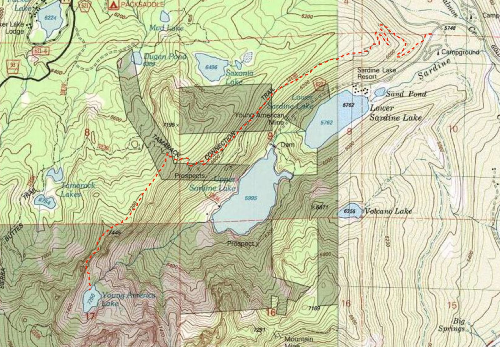 trail map to young america lake