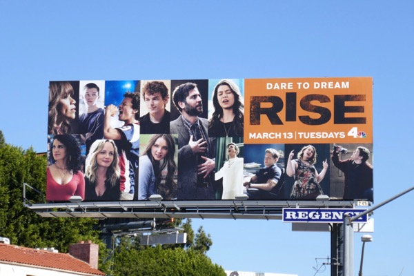Rise series premiere billboard