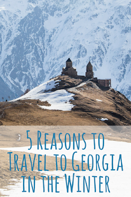 Travel the World: Five reasons to travel to Georgia (the country) in the winter, including the Gergeti Trinity Church hike.
