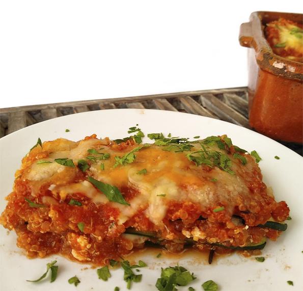 Lasagna de calabacin y quinoa la cocinera novata receta cocina vegetariano vegano bajo en calorias sin gluten sano