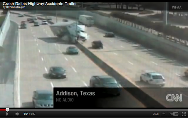 videos de camiones accidente trailer dallas texas
