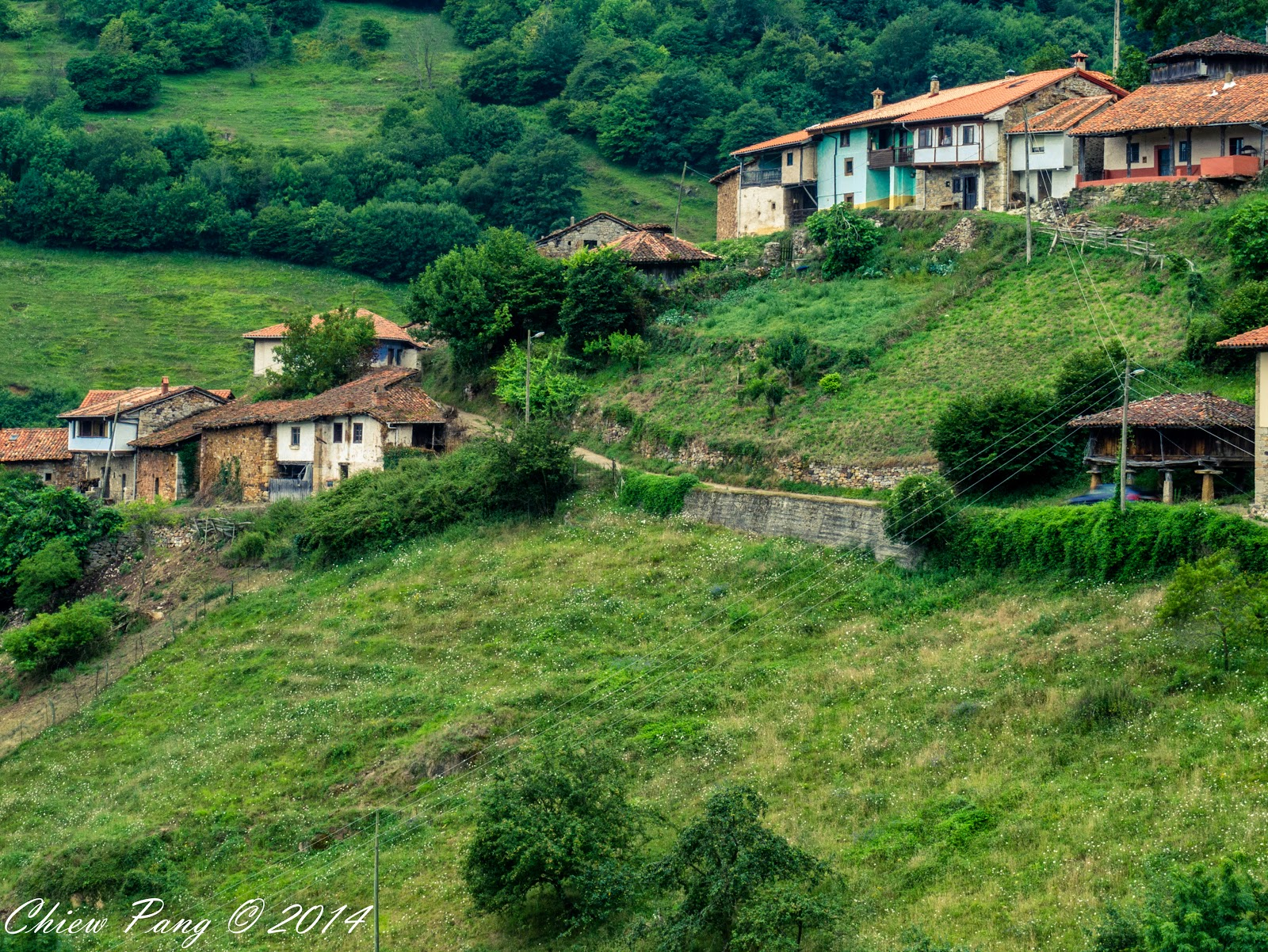 Tiny village of Bandujo, Proaza, Asturias