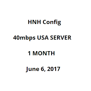 40mbps USA Server HNH config for Globe and TM