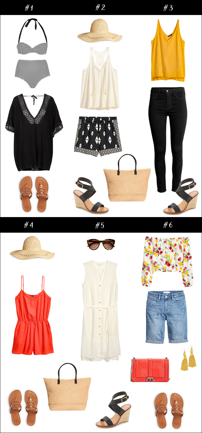 packing tips, outfit ideas for vacation