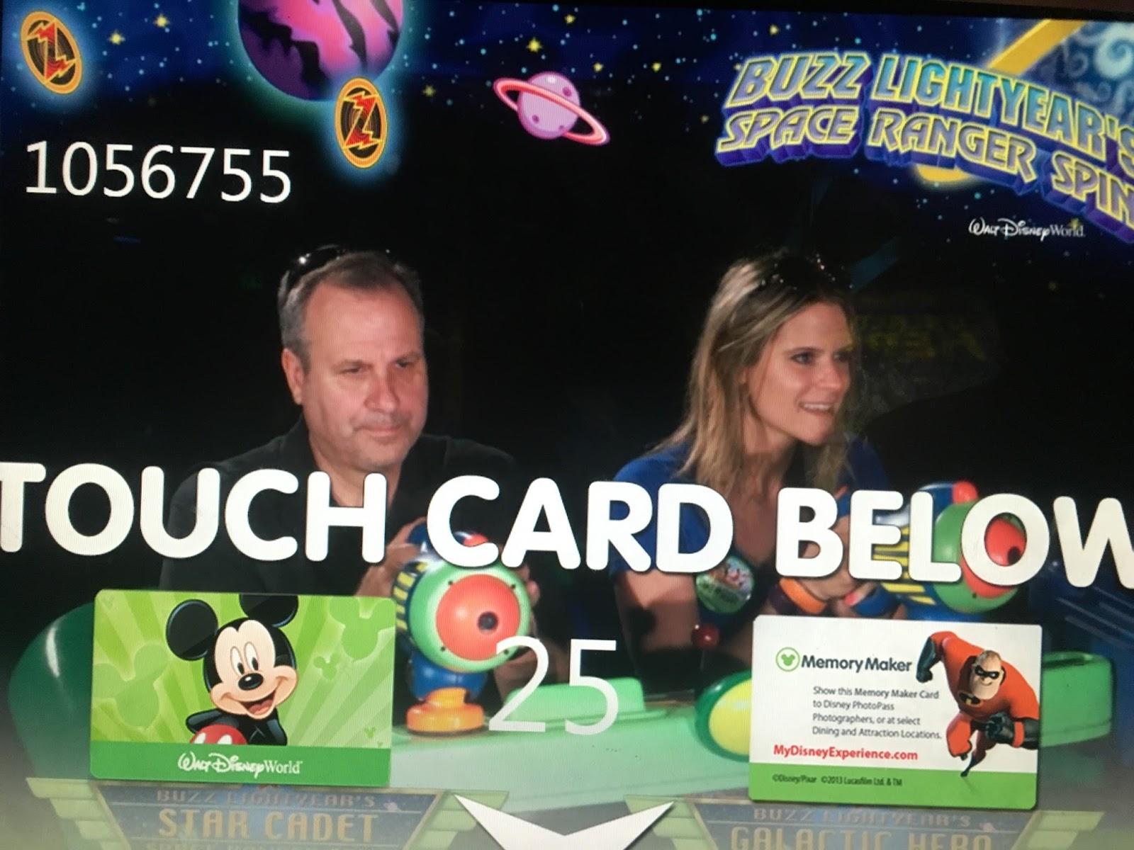Buzz Lightyear ride at Magic Kingdom in Disney World, Florida