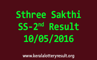 Sthree Sakthi SS 2 Lottery Result 10-5-2016