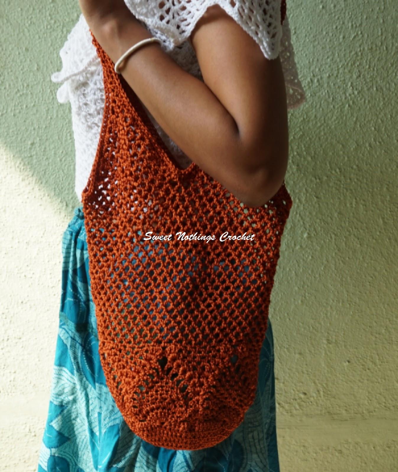 Sweet Nothings Crochet: PINEAPPLE BOHO BEACH BAG