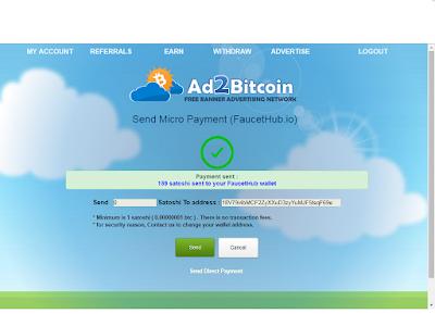 إثبات السحب لموقع ad2bitcoin